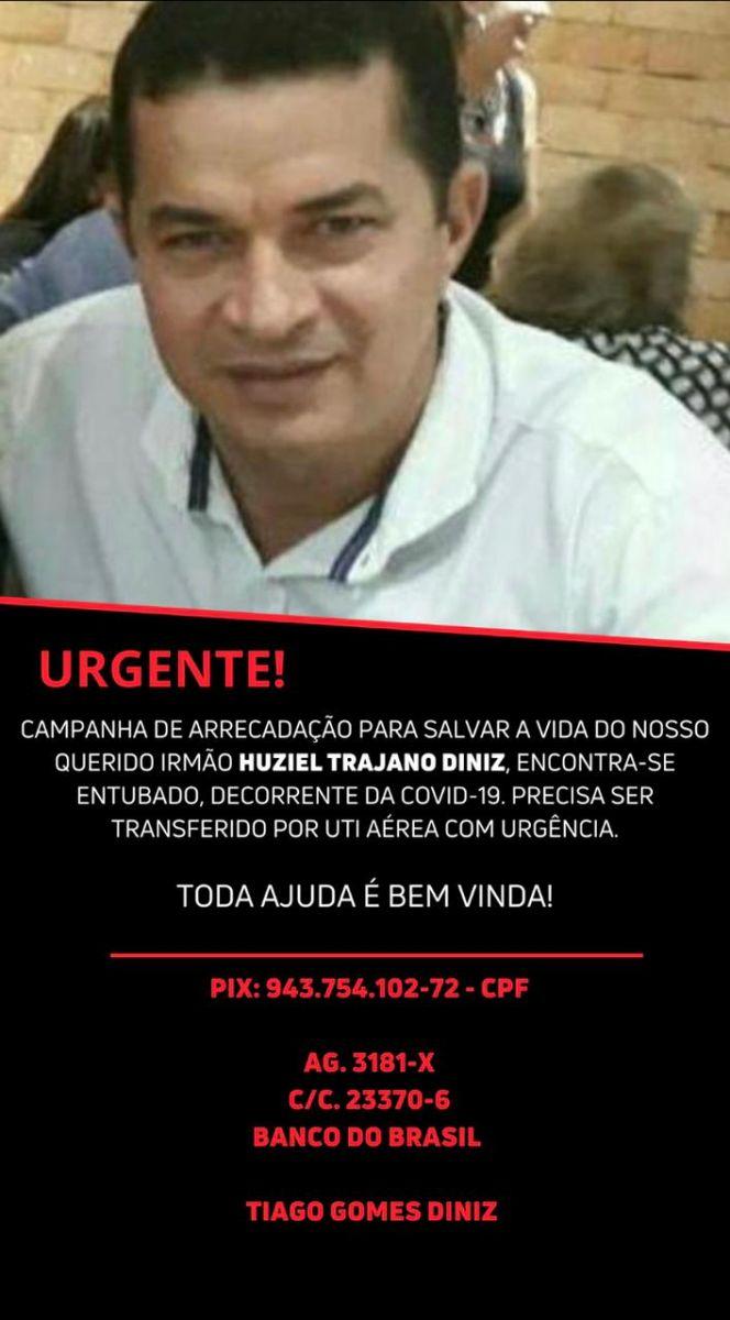 SOLIDARIEDADE: Família pede apoio para ajudar homem que está internado na UTI com covid-19 - Rondoniaovivo.com