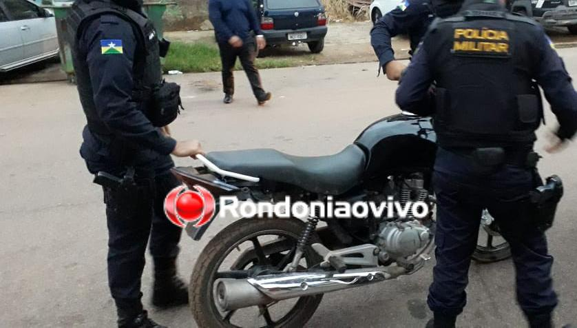 CRIME: Adolescente é flagrado no restaurante do avô com arma e moto roubada