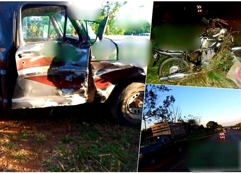 FATAL: Colisão entre motocicleta e caminhonete resulta em morte de jovem
