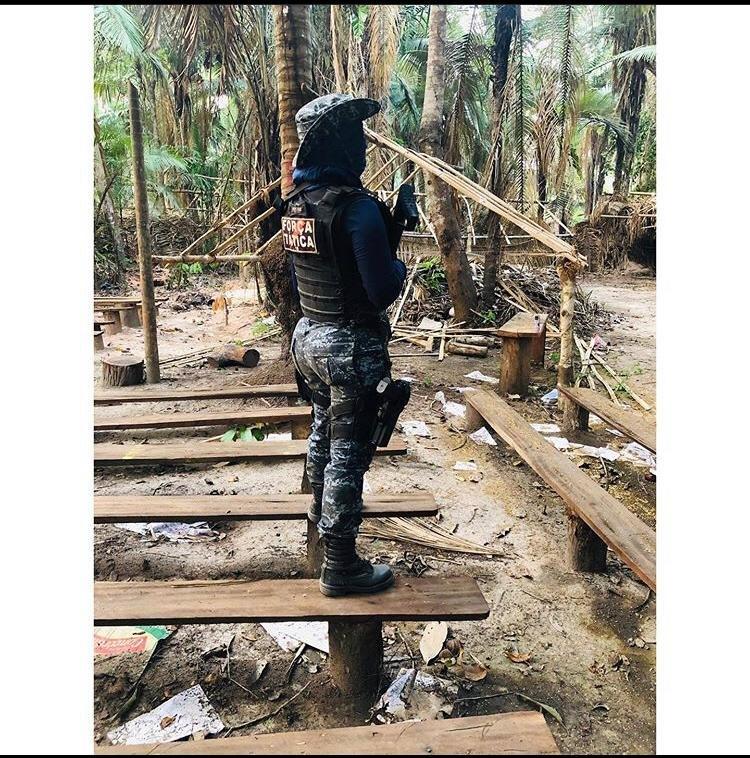 OPERAÇÃO: Confira imagens dos acampamentos de invasores em área de conflito agrário