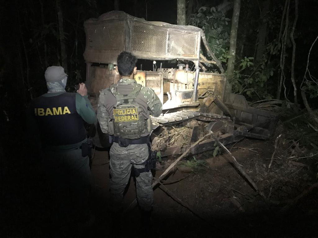 TERRAS INDÍGENAS: PF e Ibama realizam operação contra exploração de madeira