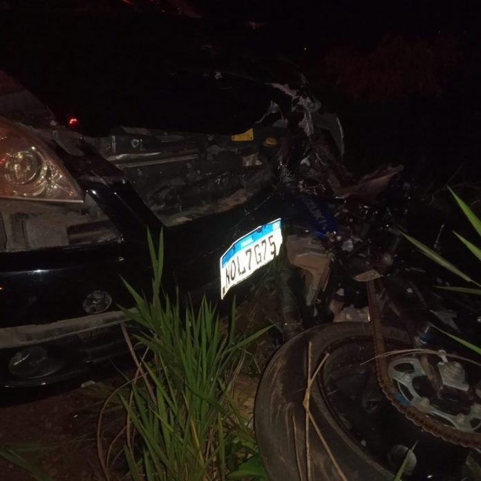 ACIDENTE FATAL: Colisão de carro com motos deixa um morto e três feridos em Rondônia